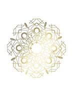 Gold Foil Mandala IV - Metallic Foil Framed Print