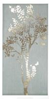 Sage Silhouette II - Metallic Foil Framed Print