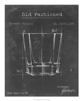 Barware Blueprint I Framed Print
