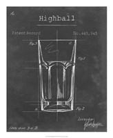 Barware Blueprint II Framed Print