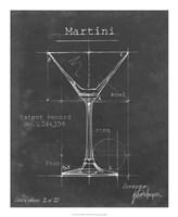 Barware Blueprint V Framed Print