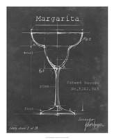 Barware Blueprint VI Framed Print