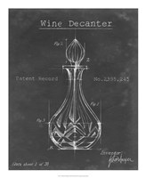 Barware Blueprint VIII Framed Print