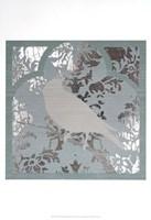 Trellis Songbird II - Metallic Foil Fine Art Print