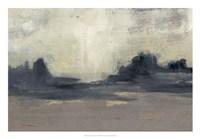 Mountain Silhouette I Framed Print