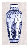 Blue & White Vase I Framed Print
