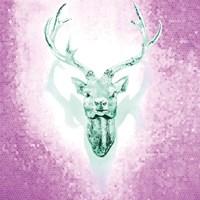 Mosaic Deer Framed Print