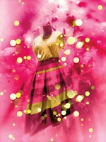 Pink and Gold Dress Fine Art Print