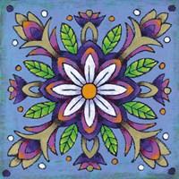 Mandala White Flower Framed Print