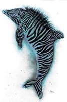 Zebrolphin Fine Art Print