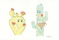 A Prickly Pair Fine Art Print