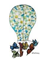 On Butterfly Wings Framed Print