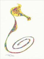 Flamboyant Seahorse I Framed Print