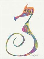 Flamboyant Seahorse II Framed Print