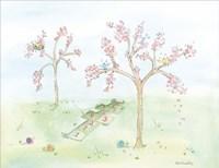 Cherry Blossom Hopscotch Fine Art Print
