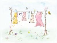 Cherry Blossom Laundry Day Fine Art Print