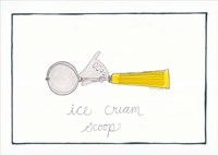 Kitchen Ice Cream Scoop Framed Print