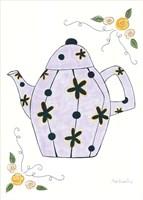 Lavender Teapot Framed Print