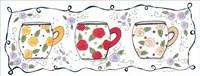 Three Floral Mugs Fine Art Print