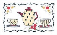 Polka Dot & Diamonds Tea Set Fine Art Print