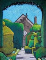 House Through Topiary Arch Fine Art Print
