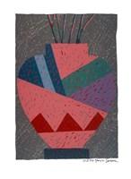 Sunset Tower Vase Fine Art Print