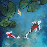 Enchanted Koi Trio Fine Art Print