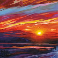 Mountain Top Sunset Fine Art Print