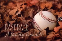 Baseball - A Family Tradition Fine Art Print