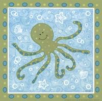 Beetle & Bob Baby Squid Framed Print
