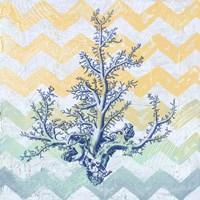 Chevron Coral Fine Art Print
