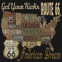 Route 66 - American Dream Kicks Fine Art Print