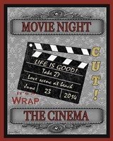 Movie Night I Framed Print
