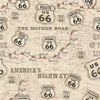 Route 66 Map Framed Print