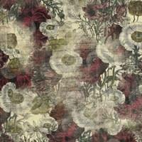 Floral Boquet Scripty Collage Fine Art Print