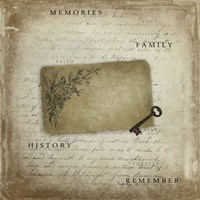Memories With Tag Key Fine Art Print