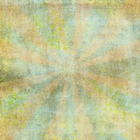 Teal Sunburst Grunge Fine Art Print