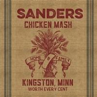 Chicken Mash Feed Sack Fine Art Print