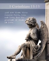 1 Corinthians 13:13 Faith, Hope and Love (Statue) Fine Art Print