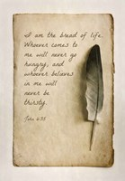 John 6:35 I am the Bread of Life (Sepia) Fine Art Print