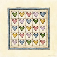 Hearts Patchwork Fine Art Print
