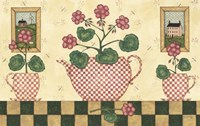 Pink Flower Pots Fine Art Print