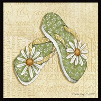 Daisy Sandals Framed Print