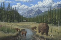 Checking Things  Out - Grizzlies Fine Art Print