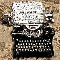 Just Words 1 Framed Print
