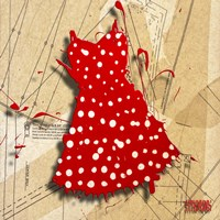 White On Red Fine Art Print