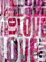Grunge Love Fine Art Print