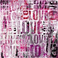 Grunge Love Square Fine Art Print