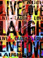 Live Love Laugh Fine Art Print