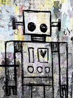 Boy Robot Color Fine Art Print